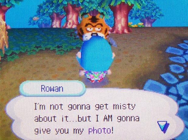 Rowan giving me his photo