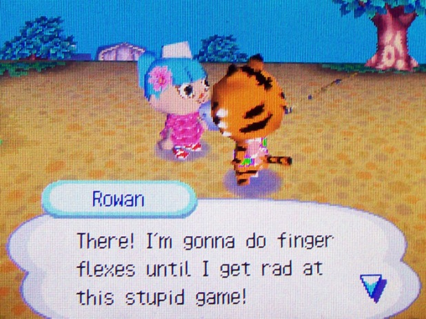 Rowan's gonna work on his finger workouts to get better at rock-paper-scissors