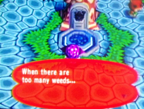 The wishing well says I have too many weeds
