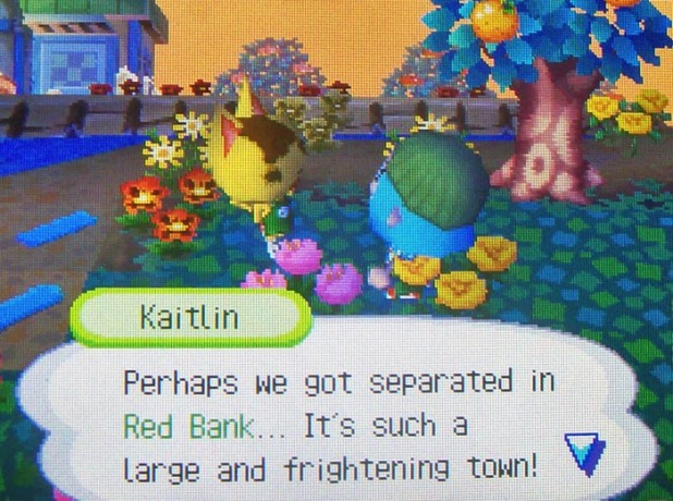Kaitlin: Perhaps we got separated in Red Bank...It's such a large and frightening town!