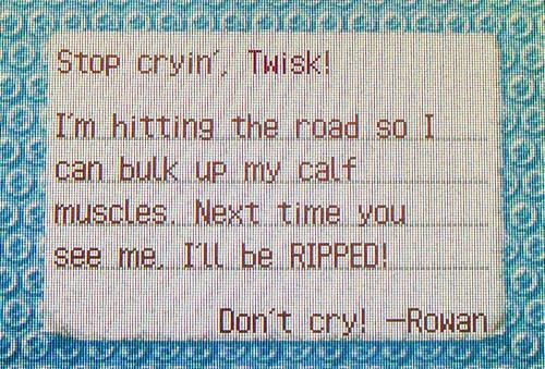 Rowan's goodbye letter