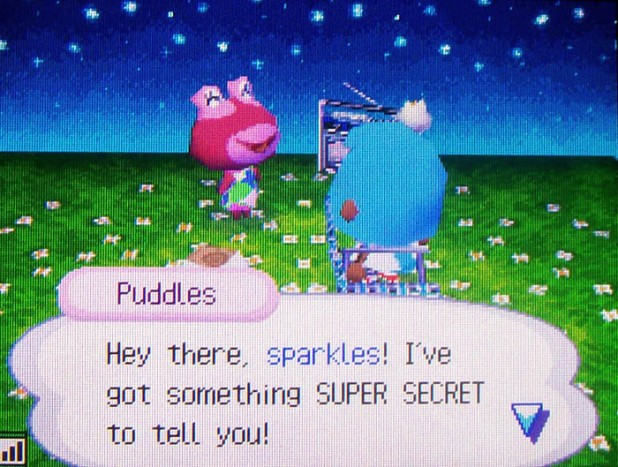 Puddles remembers me because she called me 'sparkles'