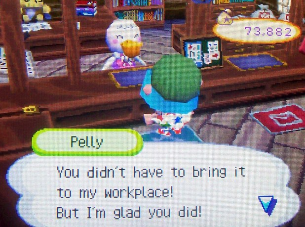 Pelly: You didn't have to bring it to my workplace! But I'm glad you did!