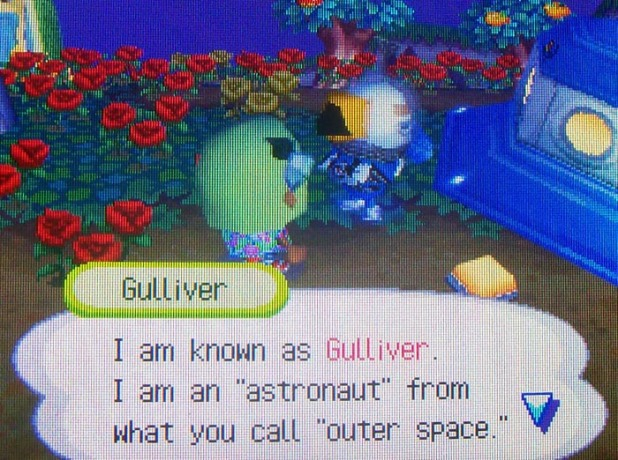 Gulliver: I am known as Gulliver. I am an astronaut from what you call outer space.