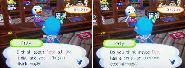 Pelly: I think about Pete all the time, and yet...Do you think maybe Pete has a crush on someone else already?