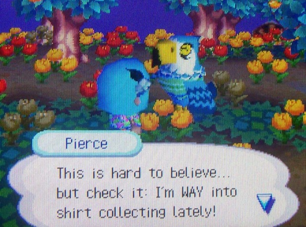 Pierce: This is hard to believe... but check it: I'm WAY into shirt collecting lately!