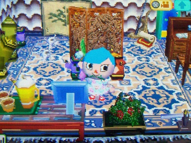 An exotic living room in Usagi's house