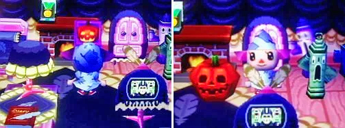 Jack-in-the-box and jack-o-lantern