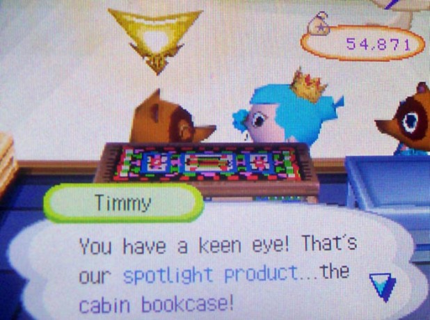Timmy: You have a keen eye! That's our spotlight product...the cabin bookcase!