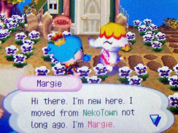Margie: Hi there. I'm new here. I moved from NekoTown not long ago. I'm Margie.