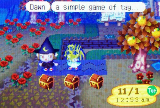 Starting a game of tag with Witch Dawn