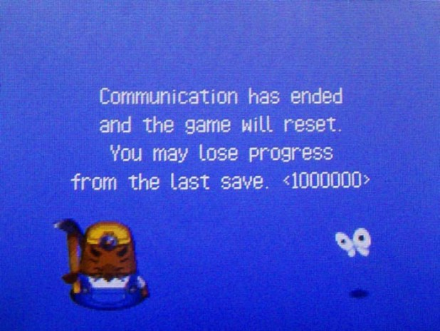 Resetti: Communication has ended and the game will reset. You may lose progress from the last save.