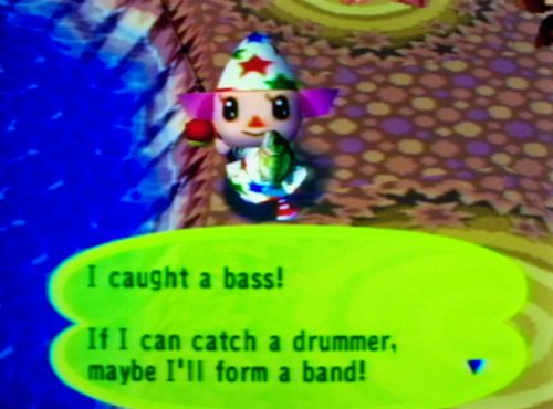 I caught a bass! If I can catch a drummer, maybe I'll form a band!