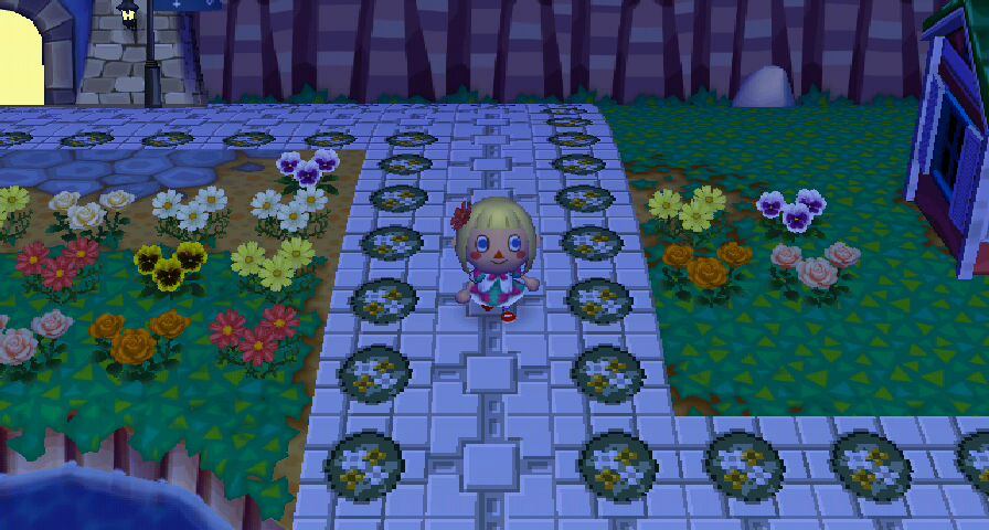 while serene arranged her flowers i walked along ol dales helpful paths to explore the town - Halloween Animal Crossing City Folk