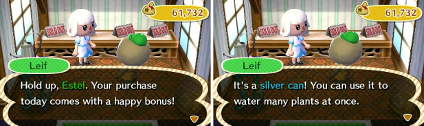 Getting the silver can from Leif