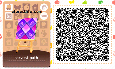 non-bordered harvest path QR code