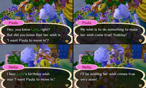 I heard Lyra's birthday wish was for Paula to move in!