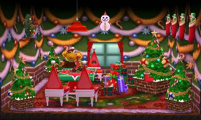 Curlos's festive living room