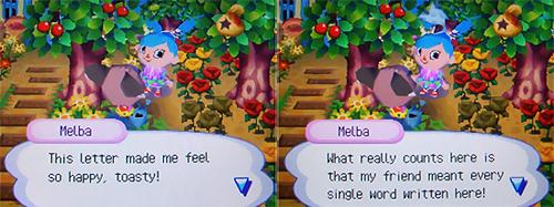 Melba likes Talie's letter