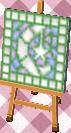 crescent moon mosaic tile (grass)