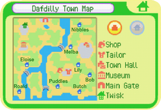 Dafdilly Town Map