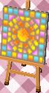sun mosaic tile