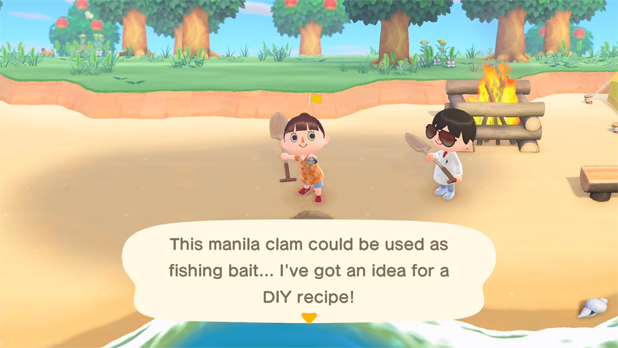 This manila clam could be used as fishing bait... I've got an idea for a DIY recipe!