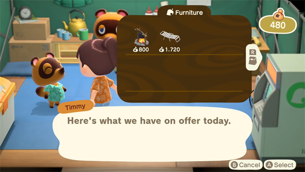 Furniture items available