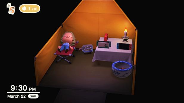my tent interior